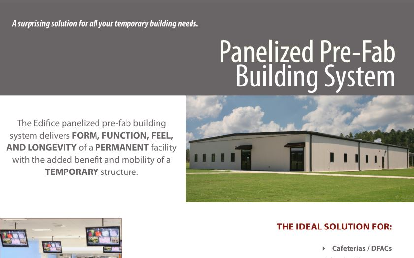 Federal edifice inc for Panelized building systems