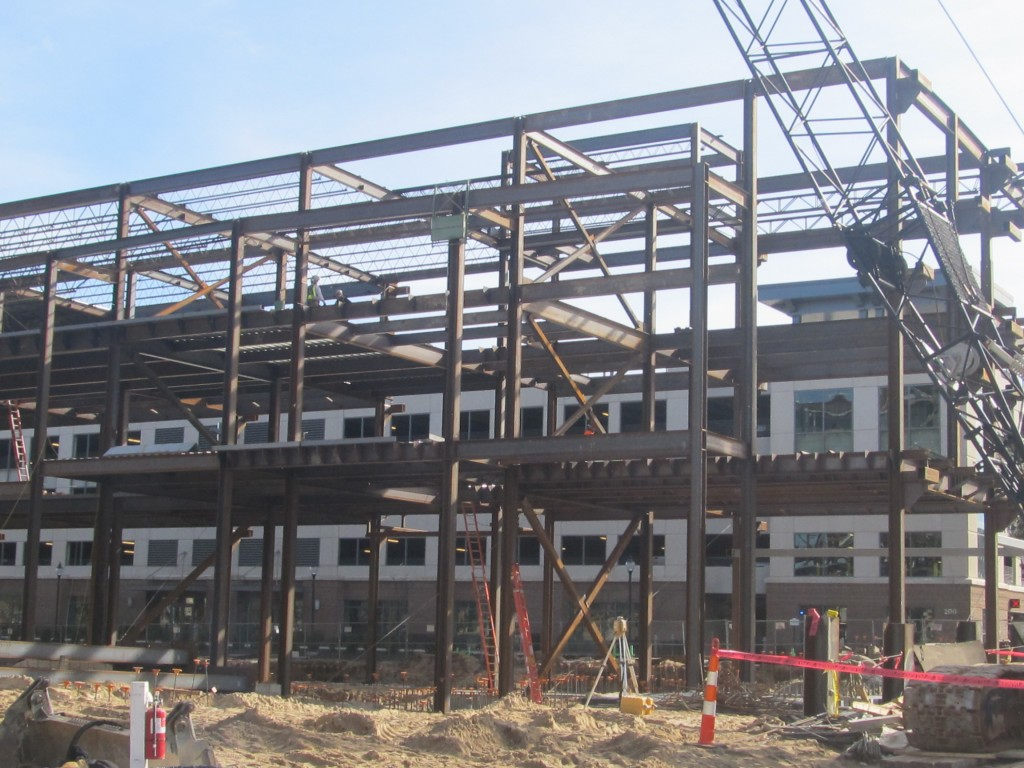 Area B Steel Erection
