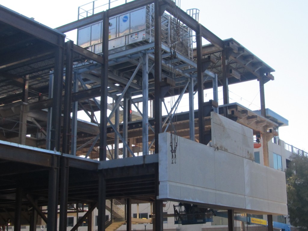 Cooling Tower & Precast On West Elevation