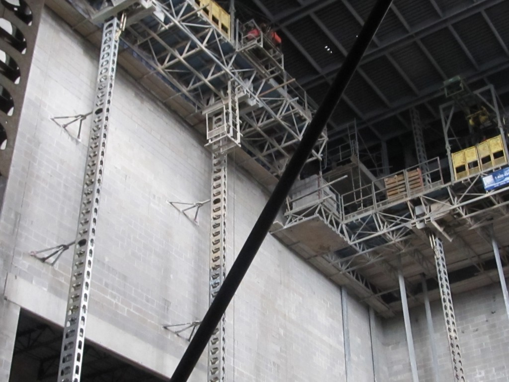 CMU Walls Around Stage