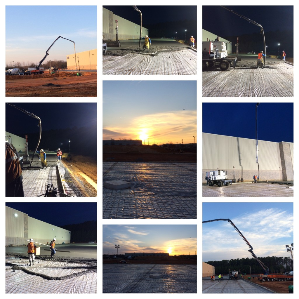 concrete pour collage