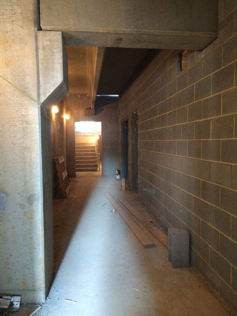 basement walls were completed the basement will house the building