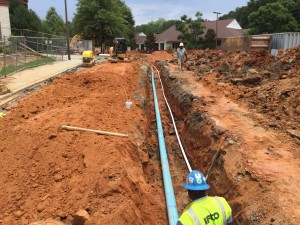 Christ Covenant Church sewer line