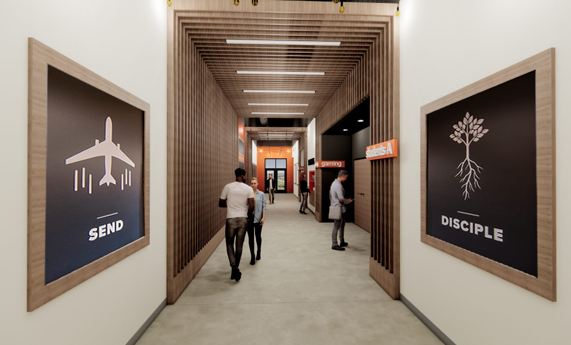 Summit North Students Corridor